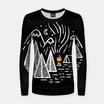 Thumbnail image of Camping and Bonfire Women sweater, Live Heroes