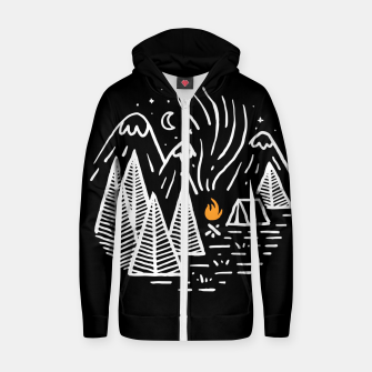 Thumbnail image of Camping and Bonfire Zip up hoodie, Live Heroes