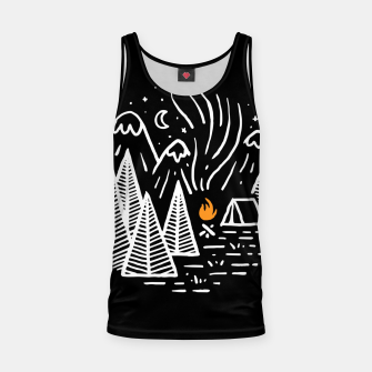 Miniaturka Camping and Bonfire Tank Top, Live Heroes