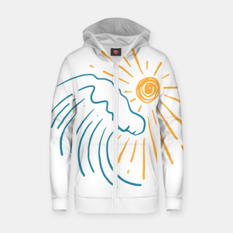 Thumbnail image of Sun and Wave Zip up hoodie, Live Heroes