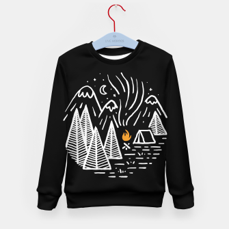 Thumbnail image of Camping and Bonfire Kid's sweater, Live Heroes