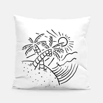 Miniatur Beach and Waves Pillow, Live Heroes