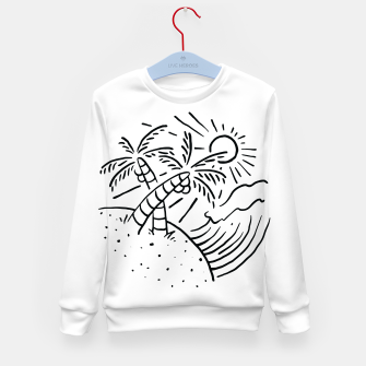 Miniatur Beach and Waves Kid's sweater, Live Heroes