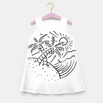 Miniatur Beach and Waves Girl's summer dress, Live Heroes