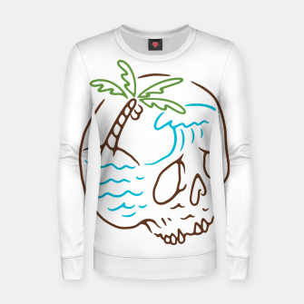 Thumbnail image of Skull Summer Mind Women sweater, Live Heroes