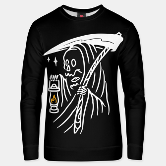 Thumbnail image of Grim Reaper and Lighting Unisex sweater, Live Heroes
