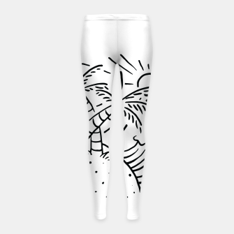 Thumbnail image of Beach and Waves Girl's leggings, Live Heroes