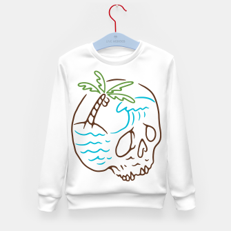 Thumbnail image of Skull Summer Mind Kid's sweater, Live Heroes