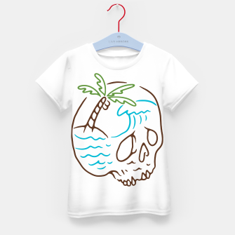 Thumbnail image of Skull Summer Mind Kid's t-shirt, Live Heroes