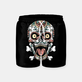 Thumbnail image of Mexican Skull Swim Shorts, Live Heroes