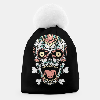 Thumbnail image of Mexican Skull Beanie, Live Heroes