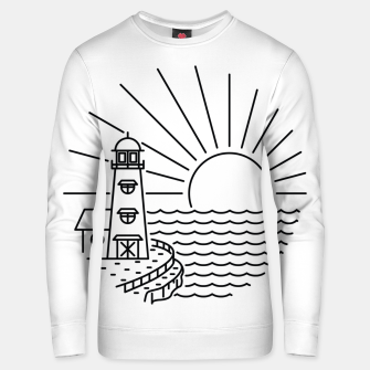 Thumbnail image of Lighthouse and Sunset Unisex sweater, Live Heroes