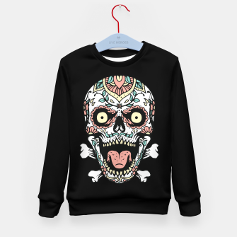 Thumbnail image of Mexican Skull Kid's sweater, Live Heroes