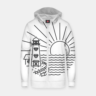 Thumbnail image of Lighthouse and Sunset Zip up hoodie, Live Heroes