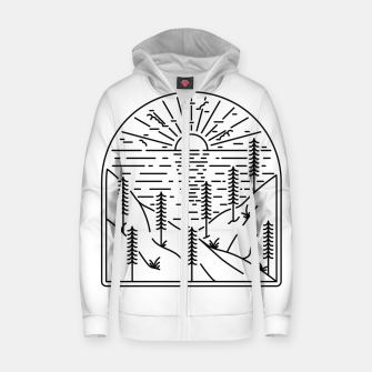 Thumbnail image of Beauty Cliffs Zip up hoodie, Live Heroes