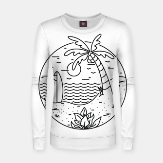 Thumbnail image of Surf and Beach Women sweater, Live Heroes