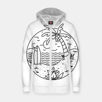 Thumbnail image of Surf and Beach Zip up hoodie, Live Heroes