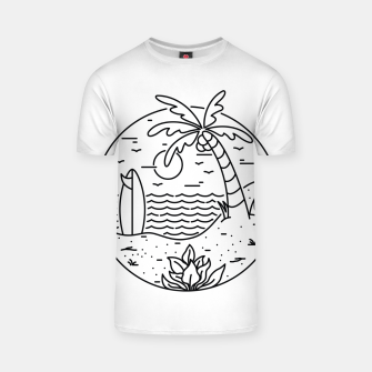 Thumbnail image of Surf and Beach T-shirt, Live Heroes