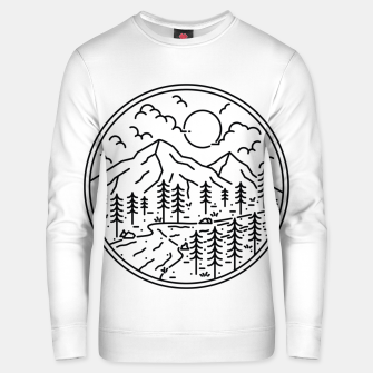 Thumbnail image of River and Mountain Unisex sweater, Live Heroes