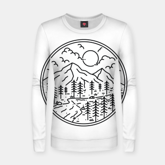 Miniatur River and Mountain Women sweater, Live Heroes