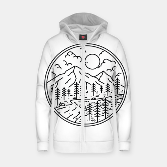 Thumbnail image of River and Mountain Zip up hoodie, Live Heroes