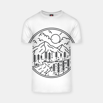 Miniature de image de River and Mountain T-shirt, Live Heroes