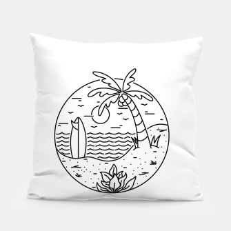 Miniature de image de Surf and Beach Pillow, Live Heroes