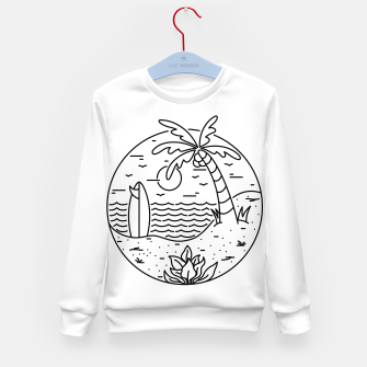Thumbnail image of Surf and Beach Kid's sweater, Live Heroes