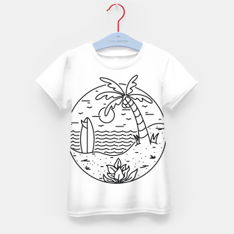 Thumbnail image of Surf and Beach Kid's t-shirt, Live Heroes