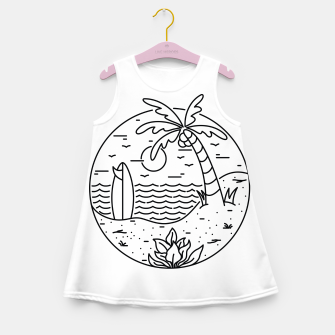 Miniature de image de Surf and Beach Girl's summer dress, Live Heroes