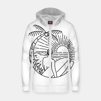 Thumbnail image of It's Time to Surf Zip up hoodie, Live Heroes