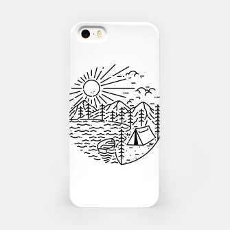Miniatur Camping Lake iPhone Case, Live Heroes