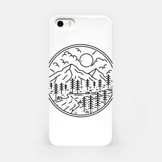 Miniatur River and Mountain iPhone Case, Live Heroes