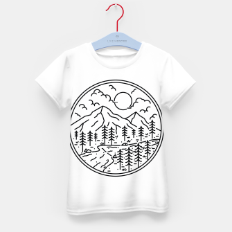 Miniatur River and Mountain Kid's t-shirt, Live Heroes