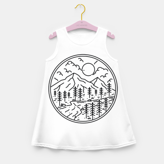 Miniatur River and Mountain Girl's summer dress, Live Heroes