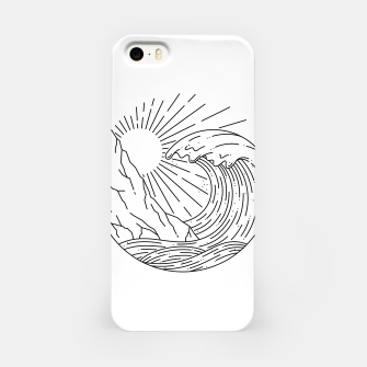 Miniatur Wave and Cliff iPhone Case, Live Heroes