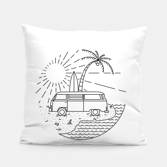 Thumbnail image of Van and Beach Pillow, Live Heroes