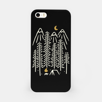 Miniatur Night Camping iPhone Case, Live Heroes