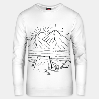 Miniatur Camping Lake and Mountain Unisex sweater, Live Heroes