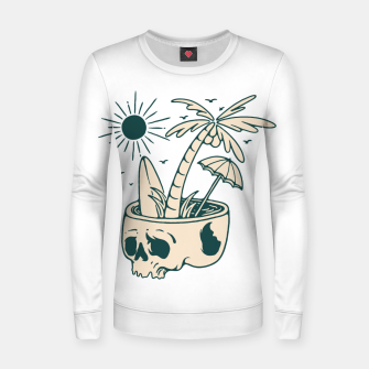 Thumbnail image of Skull Summer Women sweater, Live Heroes