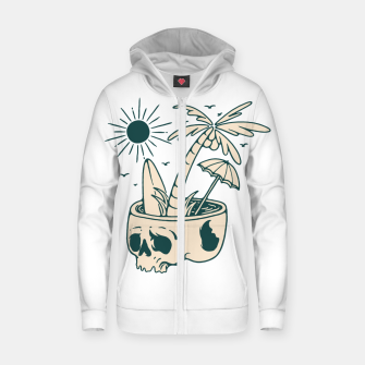 Thumbnail image of Skull Summer Zip up hoodie, Live Heroes