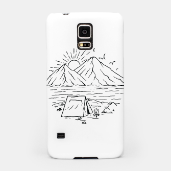 Miniatur Camping Lake and Mountain Samsung Case, Live Heroes