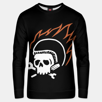 Thumbnail image of Biker Fire Unisex sweater, Live Heroes
