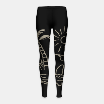 Thumbnail image of Skull Island Girl's leggings, Live Heroes