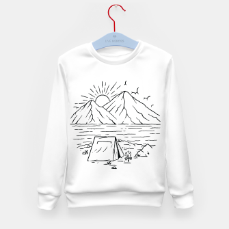 Miniatur Camping Lake and Mountain Kid's sweater, Live Heroes