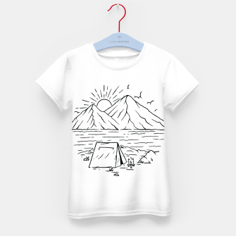 Miniatur Camping Lake and Mountain Kid's t-shirt, Live Heroes