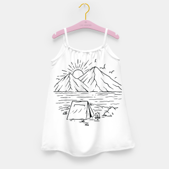 Miniatur Camping Lake and Mountain Girl's dress, Live Heroes