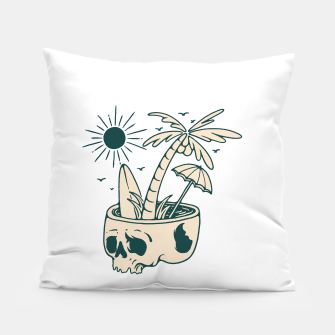 Thumbnail image of Skull Summer Pillow, Live Heroes