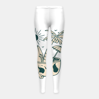 Thumbnail image of Skull Summer Girl's leggings, Live Heroes