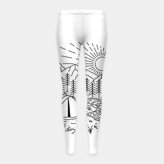 Thumbnail image of Camping Girl's leggings, Live Heroes